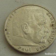 Monedas antiguas de Europa: MONEDA DE PLATA 5 MARCOS 1935 CECA A, BERLIN, ALEMANIA NAZI, MARISCAL PAUL VON HINDENBURG. Lote 140208618