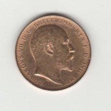 Monedas antiguas de Europa: INGLATERRA/GRAN BRETANIA-1 LIBRA/POUND-1905-EDUARDO VII-ORO. Lote 140321630