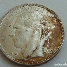 Monedas antiguas de Europa: MONEDA DE PLATA DE 20 FRANCOS DE BELGICA DE 1935, TEXTO EN FLAMENCO Y FRANCES,. Lote 140388314