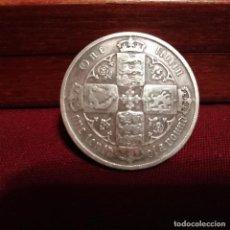 Monedas antiguas de Europa: REINO UNIDO. FLORÍN GÓTICO DE PLATA DE 1887. Lote 140431670