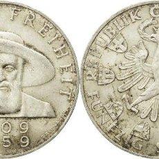 Monedas antiguas de Europa: AUSTRIA 50 SCHILLING (CHELINES) PLATA 1959 ANDREAS HOFFER EBC. Lote 140530582