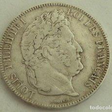 Monedas antiguas de Europa: MONEDA DE PLATA DE 5 FRANCOS DE 1843 W LUIS FELIPE DE FRANCIA, CECA DE LILLES. Lote 140826806