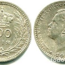 Monedas antiguas de Europa: PORTUGAL, 100 REIS PLATA 1910. Lote 140974186