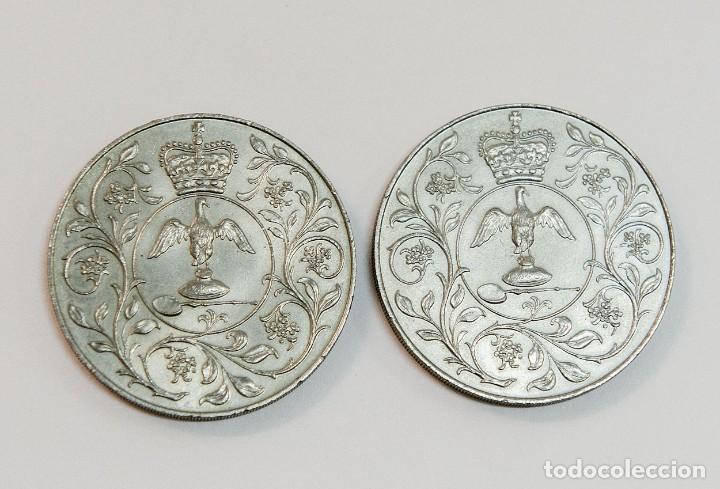 2 Monedas De Elizabeth Iidgreg Fd 1977 Nique Comprar Monedas