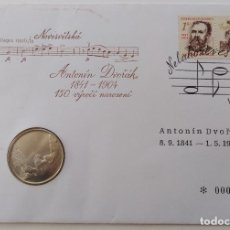 Monedas antiguas de Europa: MONEDA CONMEMORATIVA DEL 150 ANIVERSARIO DEL NACIMIENTO DE ANTONÍN DVORÁK. Lote 142197230