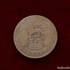 Monedas antiguas de Europa: 6 PENCE 1920 PLATA INGLATERRA. Lote 142272002