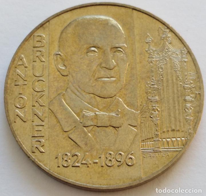 AUSTRIA: 20 SCHILLING (CHELINES) DE 1996. CENTENARIO DE ANTON BRUCKNER. (Numismática - Extranjeras - Europa)