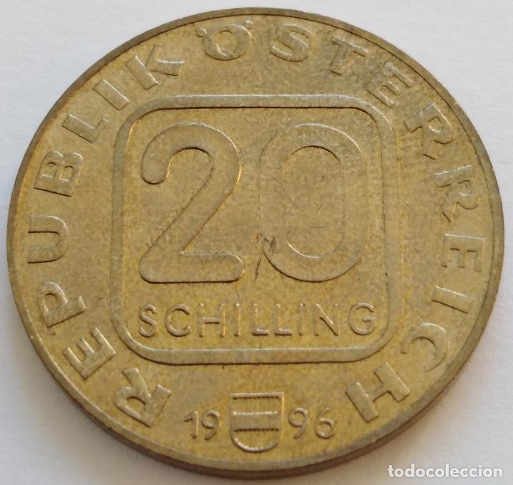 Monedas antiguas de Europa: AUSTRIA: 20 SCHILLING (CHELINES) DE 1996. CENTENARIO DE ANTON BRUCKNER. - Foto 2 - 142574994