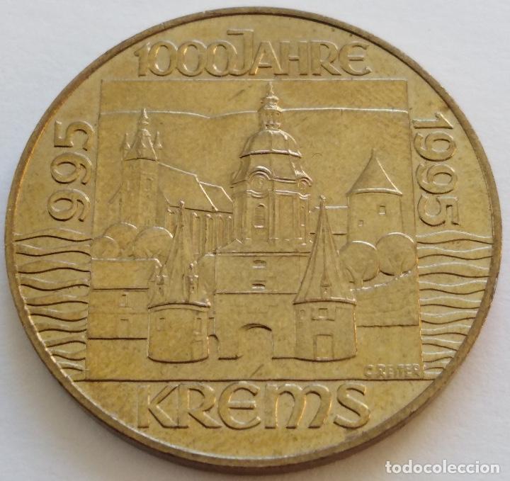 AUSTRIA: 20 SCHILLING (CHELINES) DE 1995. MILENARIO DE LA CIUDAD DE KREMS. (Numismática - Extranjeras - Europa)