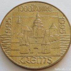 Monedas antiguas de Europa: AUSTRIA: 20 SCHILLING (CHELINES) DE 1995. MILENARIO DE LA CIUDAD DE KREMS.. Lote 142576426