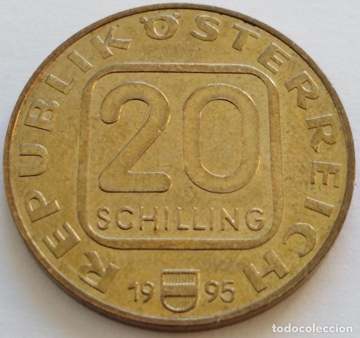 Monedas antiguas de Europa: AUSTRIA: 20 SCHILLING (CHELINES) DE 1995. MILENARIO DE LA CIUDAD DE KREMS. - Foto 2 - 142576426