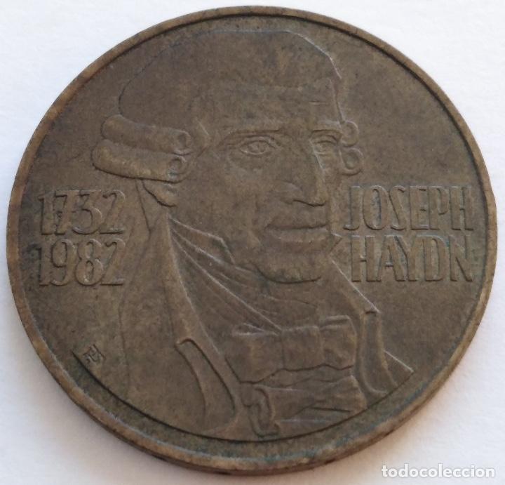 AUSTRIA: 20 SCHILLING (CHELINES) DE 1982. 250 ANIVERSARIO DE JOSEPH HAYDN. (Numismática - Extranjeras - Europa)