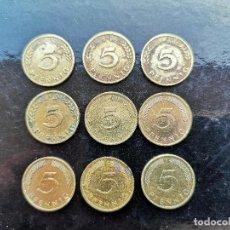 Monedas antiguas de Europa: ALEMANIA LOTE 5 PFENNING - 9 MONEDAS. Lote 142670998