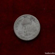 Monedas antiguas de Europa: 10 KREUZER 1870 PLATA HUNGRIA. Lote 142735706