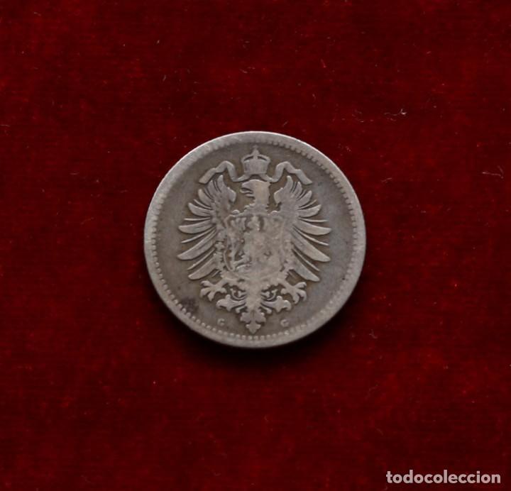 Monedas antiguas de Europa: 50 PFENNIG 1875 G PLATA ALEMANIA - Foto 2 - 142763546