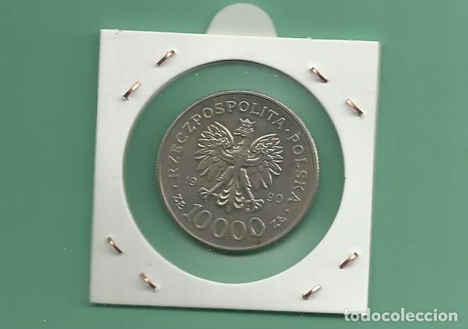 Monedas antiguas de Europa: POLONIA. 10000 ZLOTYCH 1990. 10 ANIVERSARIO DE SOLIDARIDAD - Foto 2 - 142831486