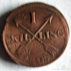 Monedas antiguas de Europa: SUECIA-1SK.-1805-ACUÑADA SOBRE OTRA. Lote 142876286