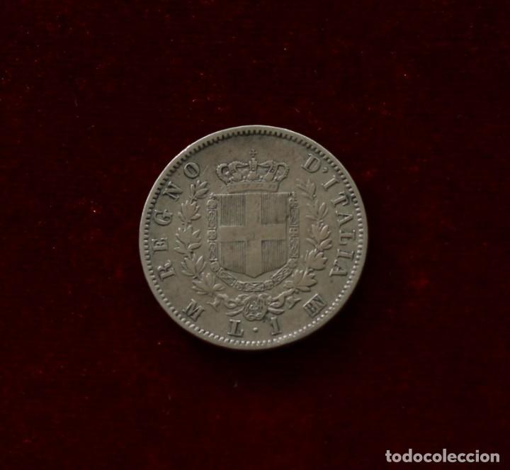 1 LIRA 1863 M PLATA ITALIA (Numismática - Extranjeras - Europa)