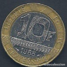 Alte Münzen aus Europa - FRANCIA - 10 FRANCS 1988 - CAT. Nº 259.1 - EBC - VISITA MIS OTROS LOTES Y AHORRA GASTOS DE ENVÍO - 143155658