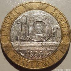Monedas antiguas de Europa: FRANCIA 10 FRANCOS 1990. Lote 143219001