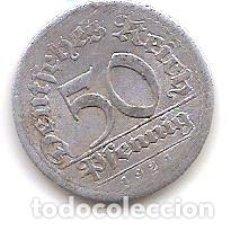 Monedas antiguas de Europa: ALEMANIA,REPUBLICA DE WEIMAR,50 PFENNIG 1921 E.. Lote 143327738