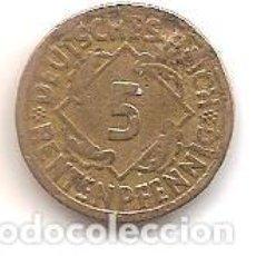 Monedas antiguas de Europa: ALEMANIA,REPUBLICA DE WEIMAR,5 RENTENPFENNIG 1924 A.. Lote 143327970
