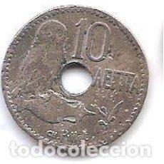 Monedas antiguas de Europa: GRECIA,10 AENTA 1912.. Lote 143329070
