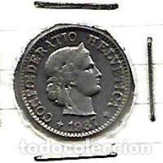 Monedas antiguas de Europa: SUIZA 5 RAPPEN 1937. Lote 143554338