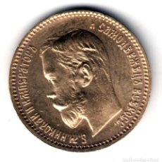 Monedas antiguas de Europa: RUSIA 5 RUBLOS ORO 1902 NICOLAS II S/C RUSSIA GOLD COINS 5 RUBEL. Lote 143824826