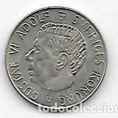 Monedas antiguas de Europa: SUECIA UNA CORONA DE PLATA 1964. Lote 143824994