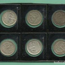 Monedas antiguas de Europa: PLATA-SUECIA. 6 MONEDAS DE 10 ORE, 6 FECHAS DIFERENTES. Lote 143892226