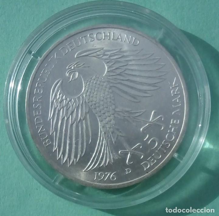 Monedas antiguas de Europa: ALEMANIA - 5 MARCOS 1976 - CECA D ENCAPSULADA - SIN CIRCULAR - PLATA - VISITA MIS OTROS LOTES - Foto 2 - 143917194