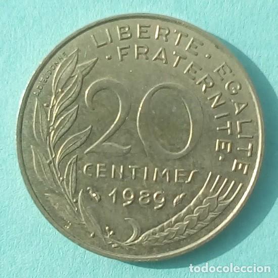 FRANCIA - 20 CENTIMES 1989 - EBC - VISITA MIS OTROS LOTES Y AHORRA GASTOS DE ENVÍO (Numismática - Extranjeras - Europa)