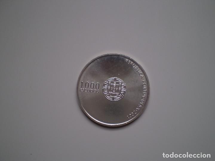 Monedas antiguas de Europa: 1000 ESCUDOS PLATA 2001 Portugal - Eurocopa de Futbol 2004 - Foto 2 - 144005826