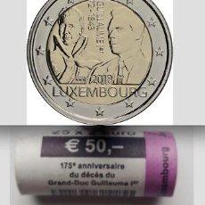 Monedas antiguas de Europa: LUXEMBURGO CARTUCHO 2 EURO 2018 MUERTE DEL GRAN DUQUE GUILLERMO I. Lote 144243330