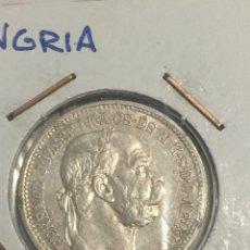Monedas antiguas de Europa: MONEDA HUNGRÍA PLATA UNA CORONA EN 1915. Lote 144358586