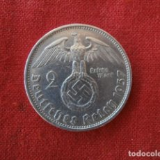 Monedas antiguas de Europa: MONEDA ANTIGUA ALEMANA DE PLATA 2 RM REICHSMARK III REICH ALEMÁN II SEGUNDA GUERRA MUNDIAL AÑO 1937. Lote 142281702