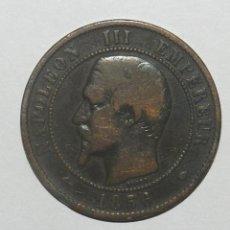 Monedas antiguas de Europa: RARA MONEDA NAPOLEON III EMPEREUR 1856, EMPIRE FRANCAIS VALOR 10 CÉNTIMOS (COBRE). PESA 9.60 GR - 30. Lote 144841074