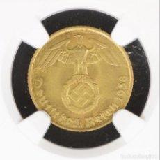 Monedas antiguas de Europa: ALEMANIA TERCER REICH 5 PFENNIG 1938-D NGC MS64 BU UNC . Lote 144864142
