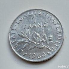 Monedas antiguas de Europa: MONEDA DE FRANCIA. 1 FRANCO. AÑO 1960. Lote 145455630