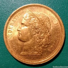 Old Coins of Europe: SUIZA, MONEDA 20 FRANCOS ORO DE 1886. Lote 145295174
