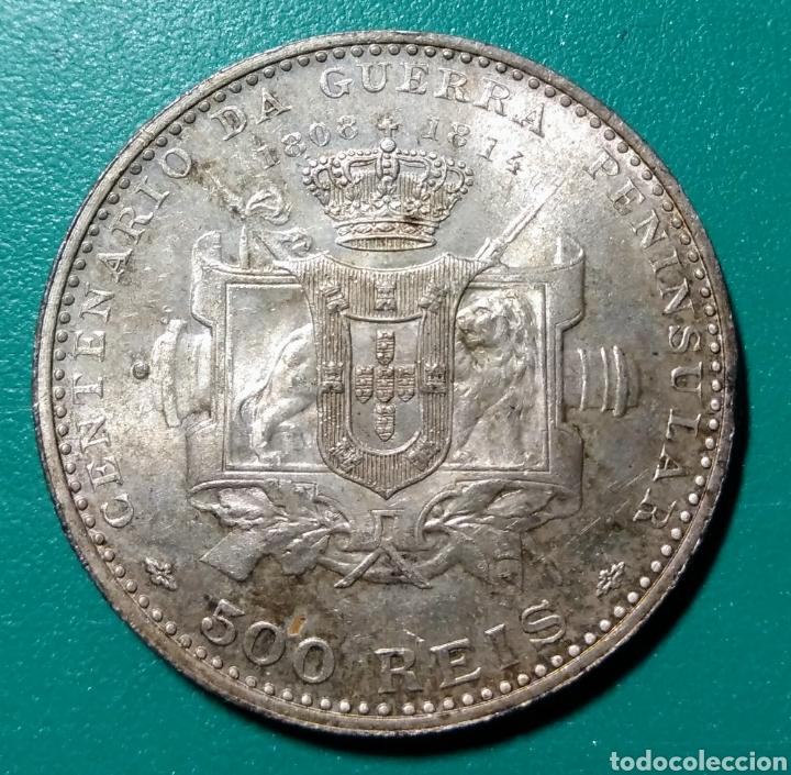 PORTUGAL, 500 REIS DE PLATA, 1910 (Numismática - Extranjeras - Europa)