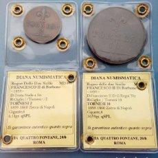 Monedas antiguas de Europa - Reino de las dos Sicilias -Precioso Lote de 2 monedas -10 y 2 Tornesi 1859 - Francesco II de Borbón - 146382466