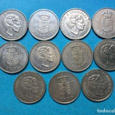 Monedas antiguas de Europa: C-29 ) DINAMARCA,,11 MONEDAS DE 1 CORONA 1973 A 1988, TODAS DISTINTAS FECHAS. Lote 115677167