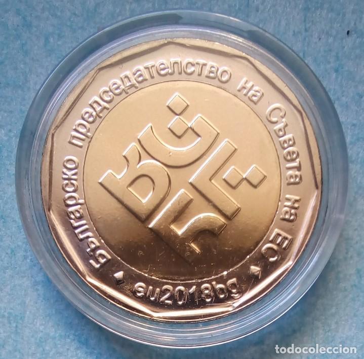 Monedas antiguas de Europa: BULGARIA - 2 LEVA 2018 - PRESIDENCIA DE LA UNIÓN EUROPEA - S / C - ENCAPSULADA - VISITA MIS LOTES - Foto 2 - 146573090