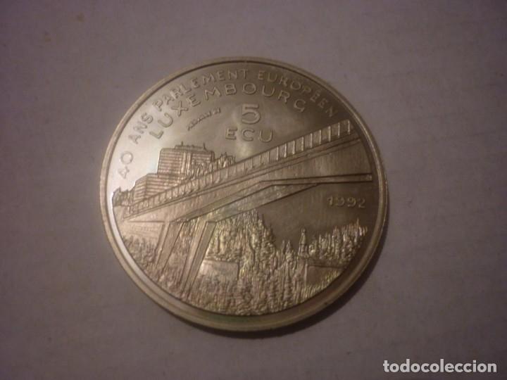 Monedas antiguas de Europa: 5 ECU DE LUXEMBURGO DE 1992 CONMEMORANDO LOS 40 AÑOS DEL PARLAMENTO EUROPEO - Foto 2 - 146574078