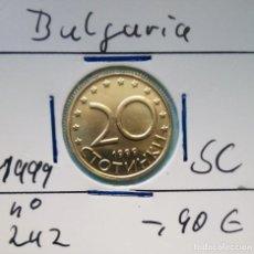 Monedas antiguas de Europa - BULGARIA - 20 STOTINKA 1999 - CAT. SCHOEN Nº 242 - S / C - ENCARTONADA - VISITA MIS OTROS LOTES - 150814280