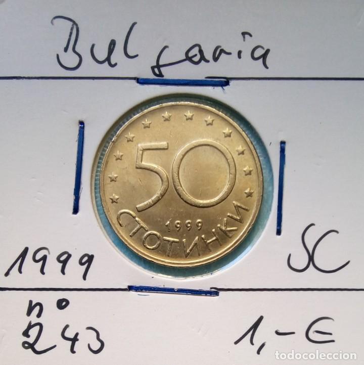 BULGARIA - 50 STOTINKA 1999 - CAT. SCHOEN Nº 243 - S / C - ENCARTONADA - VISITA MIS OTROS LOTES (Numismática - Extranjeras - Europa)