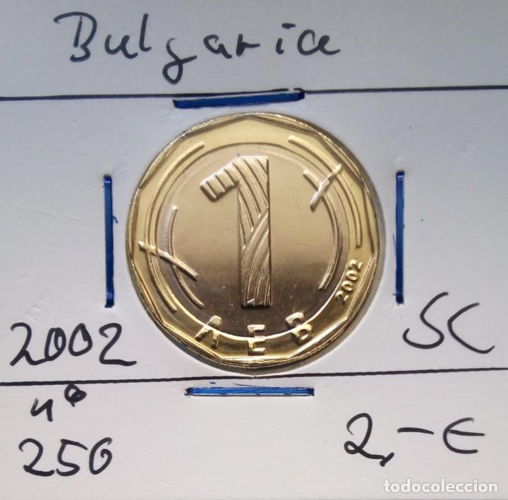BULGARIA - 1 LEVA 2002 - DE CARTUCHO - S / C - ENCARTONADA - VISITA MIS OTROS LOTES Y AHORRA GASTOS (Numismática - Extranjeras - Europa)