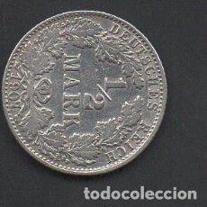 Monedas antiguas de Europa: IMPERIO ALEMÁN, 1/2 MARCO, PLATA 1907, CECA J, HAMBURGO, BC . Lote 146637146